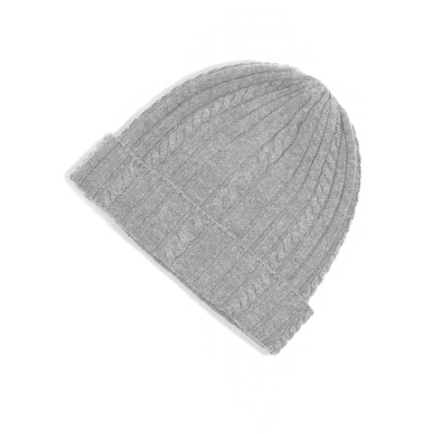 100% Pure Cashmere Cable Knit Beanie - the cozzee project
