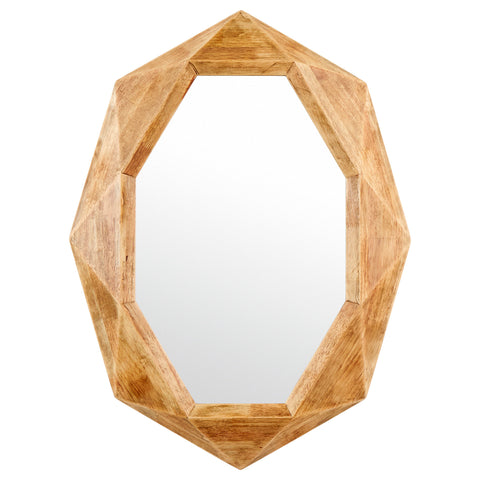 Rivet Octagon Wood Frame Hanging Wall Mirror - the cozzee project