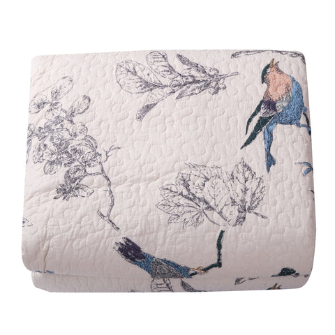 Flying Birds Cotton Bedspread Quilt - the cozzee project