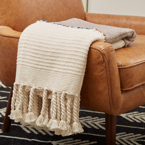 Boho Textured Throw Blanket - the cozzee project