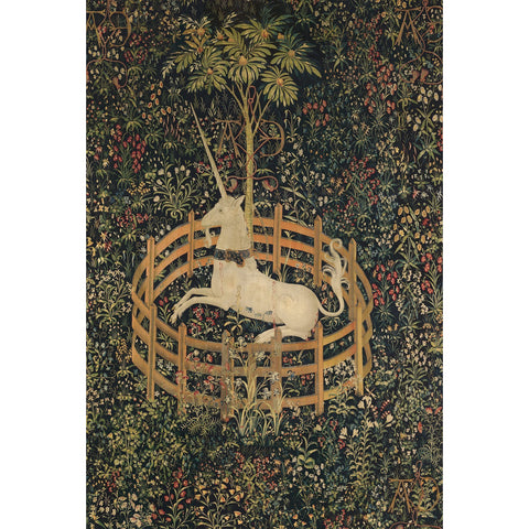 Unicorn in Captivity Wooden Jigsaw Puzzle - the cozzee project