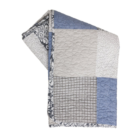Real Patchwork Quilted Throw - the cozzee project