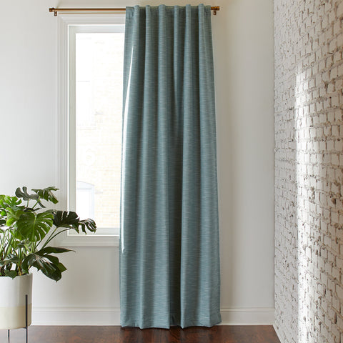 Rivet Textured Blackout Curtain Panel | Sage Green - the cozzee project