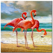 Load image into Gallery viewer, Flamingos Seaside Diamond Painting Kit - DIY