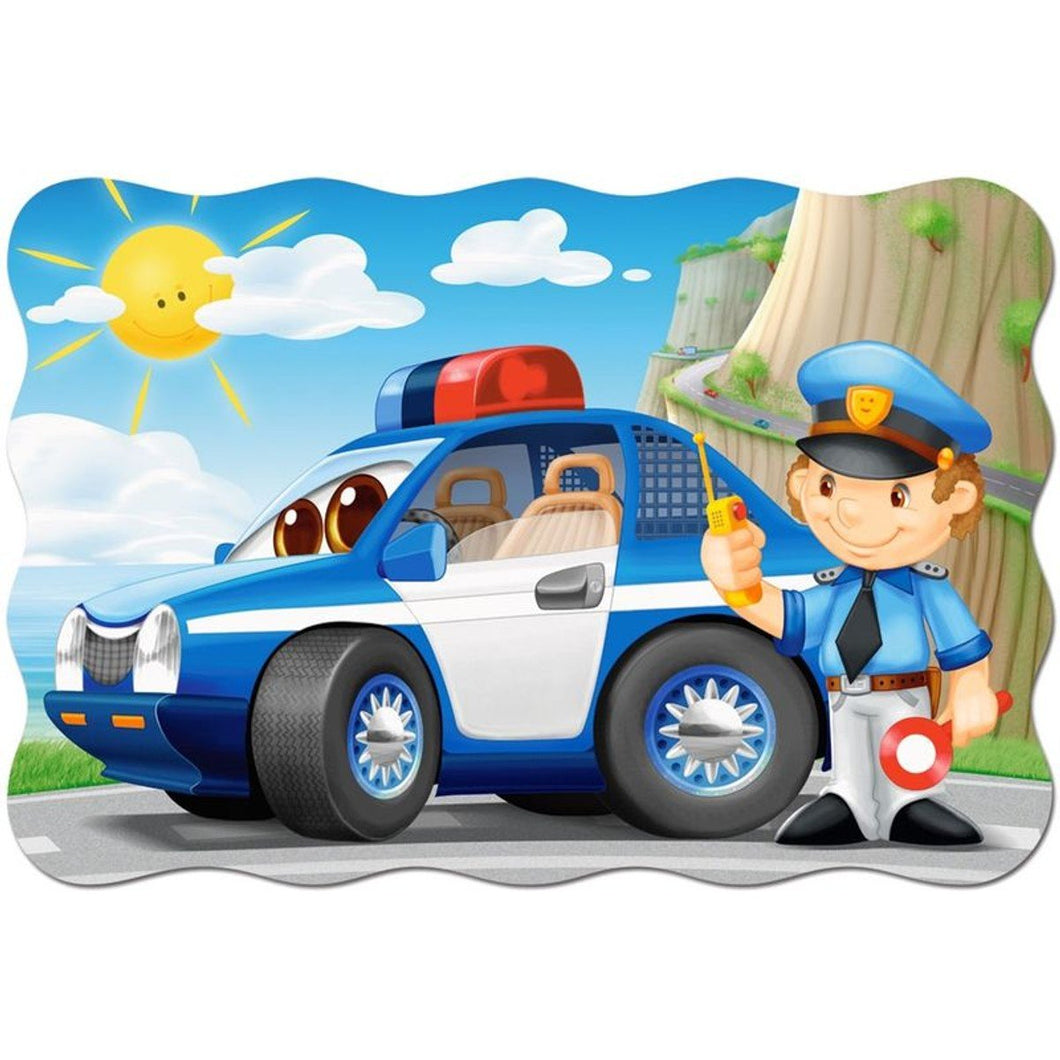 Police Car Cartoon Diamond Painting Kit - DIY