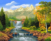 Load image into Gallery viewer, Landscape Waterfall Diamond Painting Kit - DIY