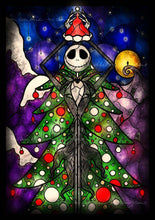 Load image into Gallery viewer, Nightmare Before Christmas Tree Diamond Painting Kit - DIY