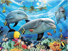 Load image into Gallery viewer, Dolphin Ocean Diamond Painting Kit - DIY