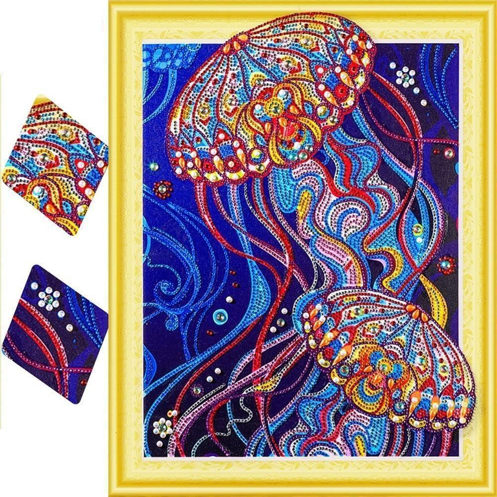 Special Shape Jellyfish Colorful Diamond Painting Kit - DIY