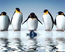 Load image into Gallery viewer, Reflection Penguins Diamond Painting Kit - DIY