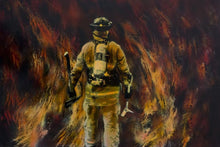 Load image into Gallery viewer, 5d Fireman Firefighter Diamond Painting Kit Premium-25