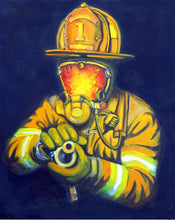 Load image into Gallery viewer, 5d Fireman Firefighter Diamond Painting Kit Premium-27
