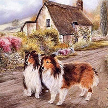 Load image into Gallery viewer, Cabin Dogs Diamond Painting Kit - DIY