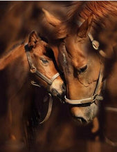 Load image into Gallery viewer, Horses Love Forever Diamond Painting Kit - DIY