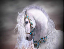 Load image into Gallery viewer, Horse White Night Diamond Painting Kit - DIY