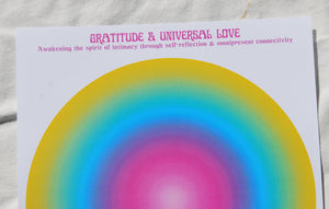 Load image into Gallery viewer, Gratitude & Universal love Meditation Print A3