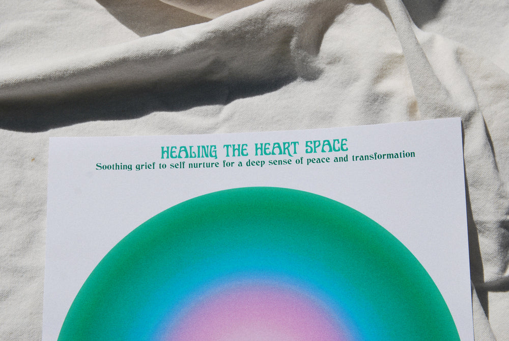 Healing the Heart Space Meditation Print A3