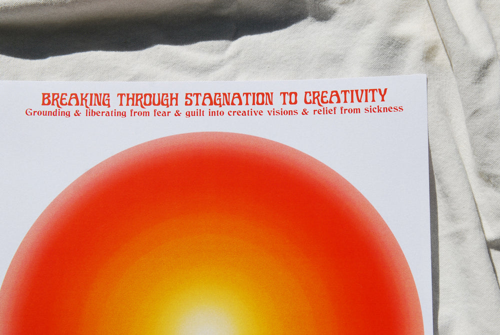 Load image into Gallery viewer, Breaking through Stagnation to Creativity Meditation Print A3
