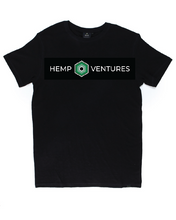 Load image into Gallery viewer, Black Hemp Logo Tee