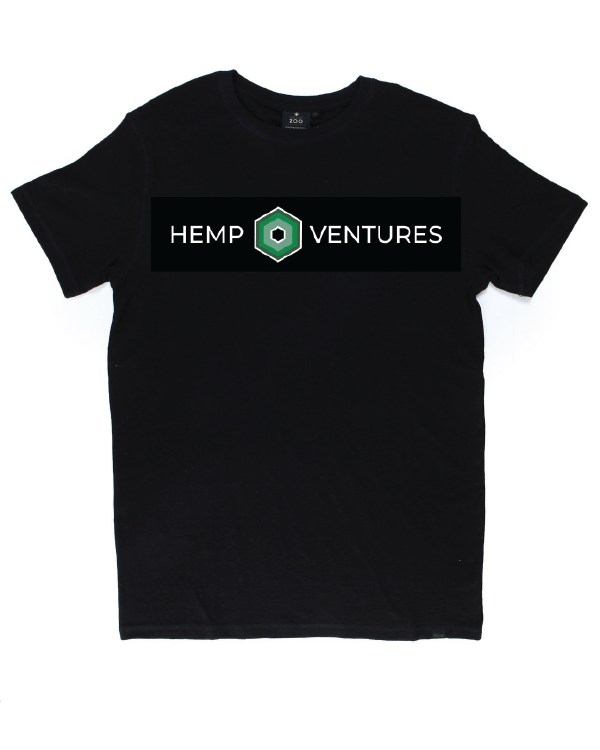 Black Hemp Logo Tee