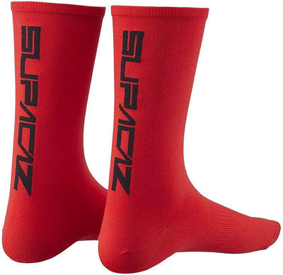 Calcetas Para Ciclismo Supacaz Straight Up Red