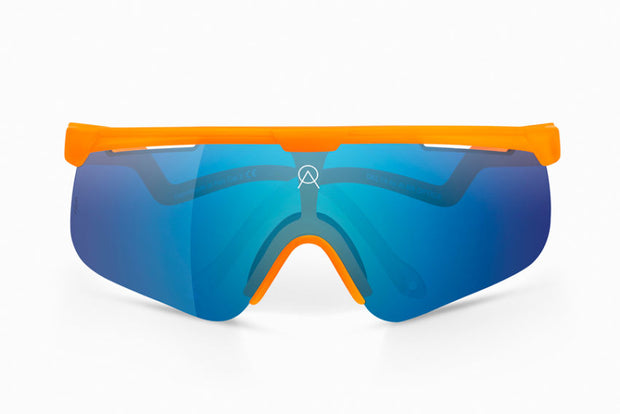 Lentes Para Ciclismo Alba Optics Delta Orange Cielo