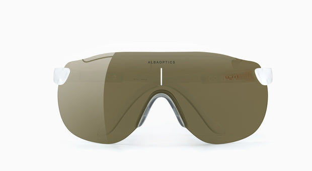 Lentes Para Ciclismo Alba Optics Stratos Snow Bronze