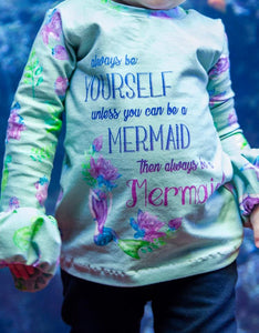 Big Kid - Glitter Mermaid Panels