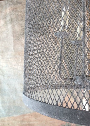 Metal Mesh Drum Chandelier