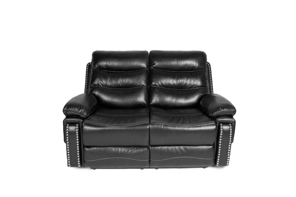 Alux A Class Luxury Recliner Sofa Set Black With Usb And Power