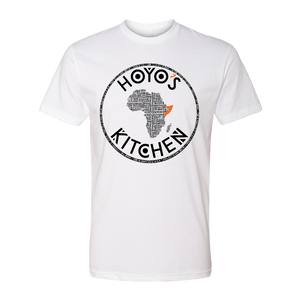 Hoyo's Kitchen WHITE Premium CVC Crew T-Shirt