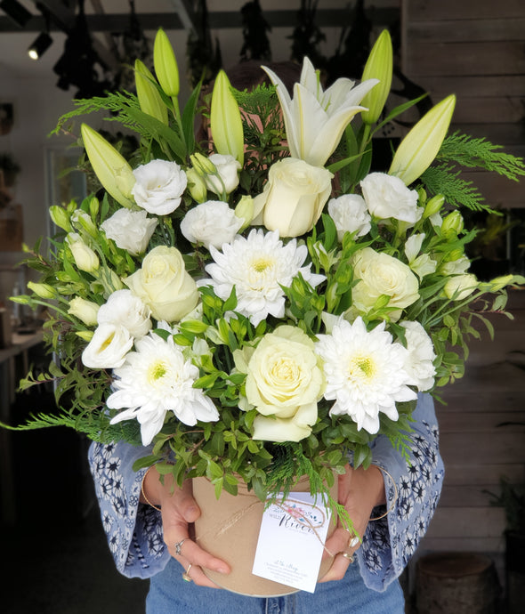 Large White & Green Arrangement
