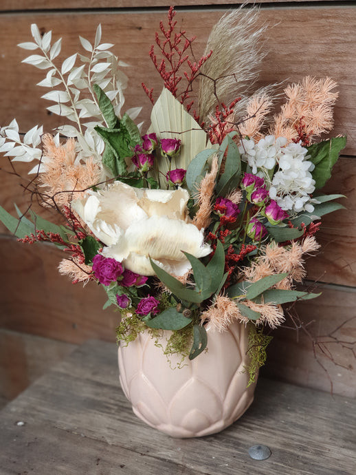Wild Pastels in Blush Vase