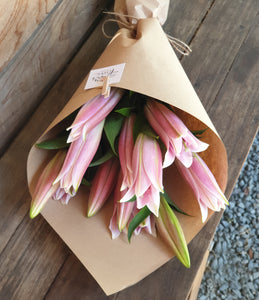3 Stem Pink Lily Bouquet