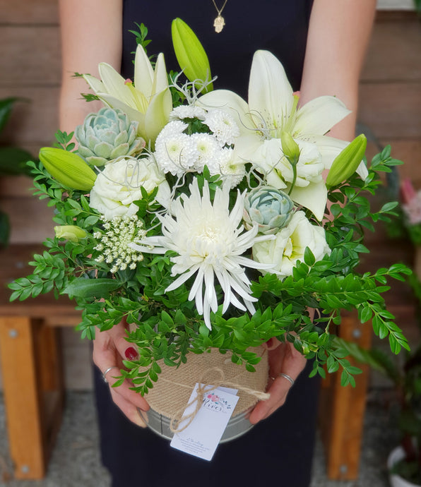 White & Green Arrangement