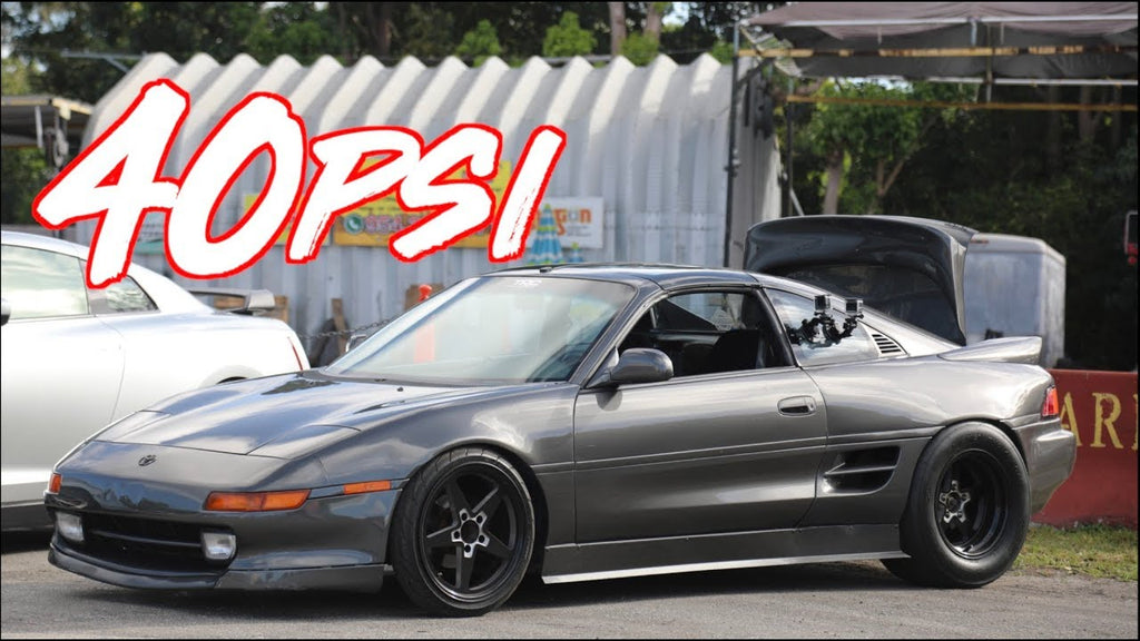 K20 MR2 on 40PSI Surprises GTR and 2JZ Truck!