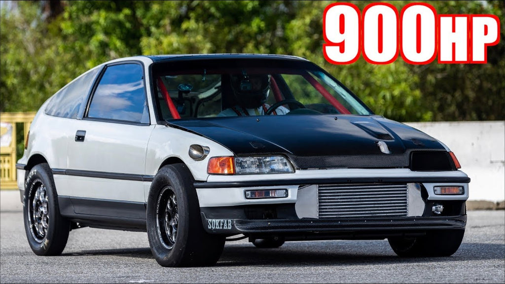 900HP CRX FROM HELL! Honda on 40PSI VS 300HP H2 and Hayabusa