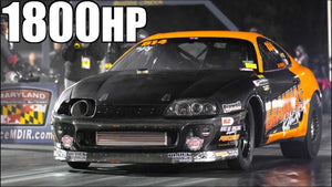 1800HP Stick Shift Supra Almost Wrecks (AMAZING SAVE!)- Fastest Manual Supra EVER