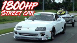 1800HP Street Supra Breaks 6's! - Fastest Street Driven Supra in the World!
