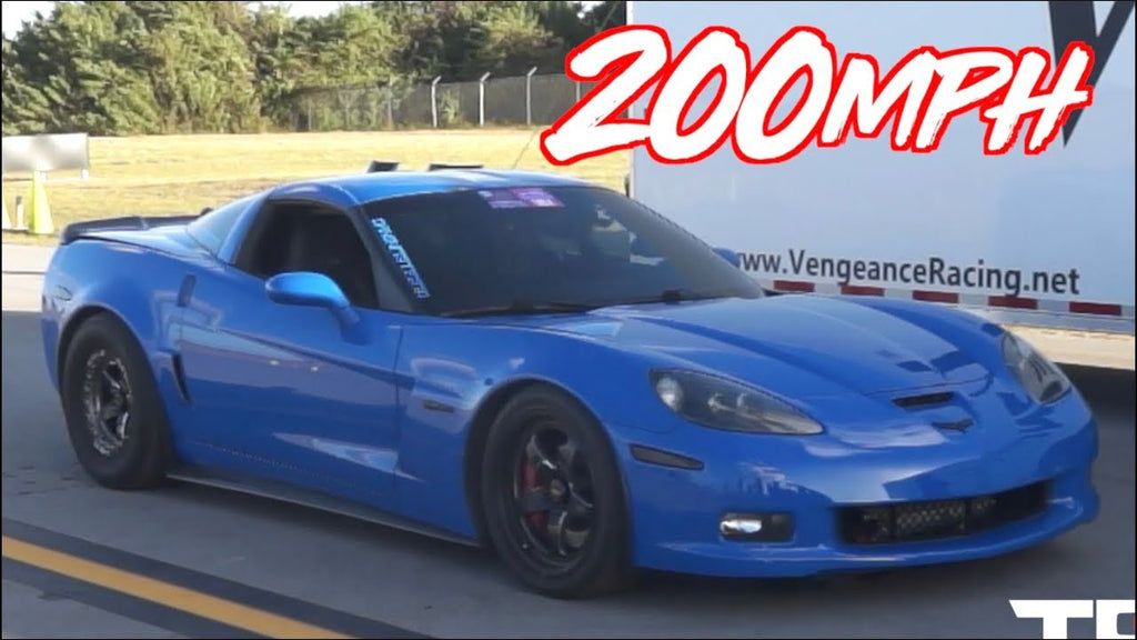 1468HP Corvette Birthday Surprise! - Breaks 200mph Half Mile Record