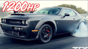 Carbon Fiber Twin Turbo Dodge Demon - 1200HP on Stock Engine!