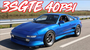 ROWDY MR2 on 40PSI 3SGTE Stroker - Launches on the Street!