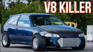 """V8 Killer"" Stock Engine Turbo Civic CALLS OUT 1000HP Turbo Camaro!"
