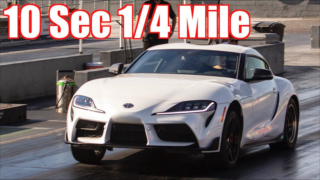 2020 Toyota Supra 10 Second 1/4 Mile! - Stock Turbo MKV