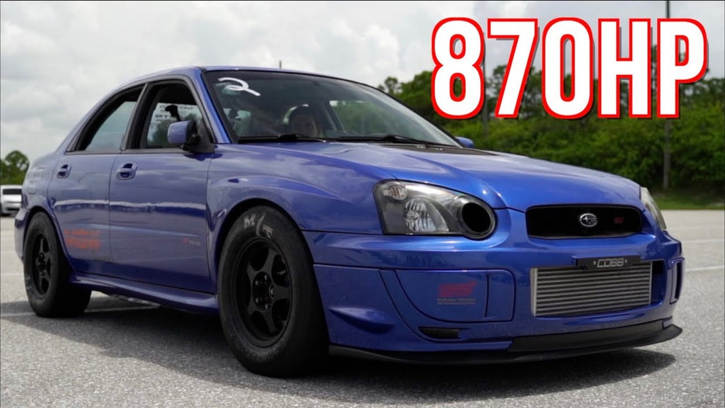 Subaru STI Quest for 8's | 900HP 80+ Drag Passes!
