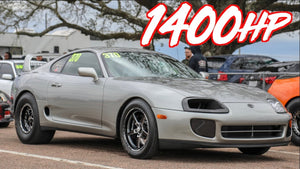 Rowdy 1400HP Stick Shift Supra on 50PSI - Stock 6 Speed Transmission!