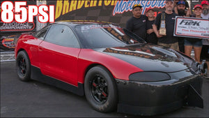 Red Demon 1800HP 4cyl on 85PSI UPSETS Domestics - Quickest Manual Car on the Planet!