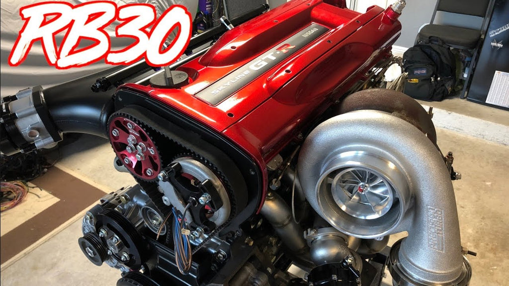 1000+HP Skyline GTR RB30 Engine is Complete! - Motec ECU + Engine Bay Paint