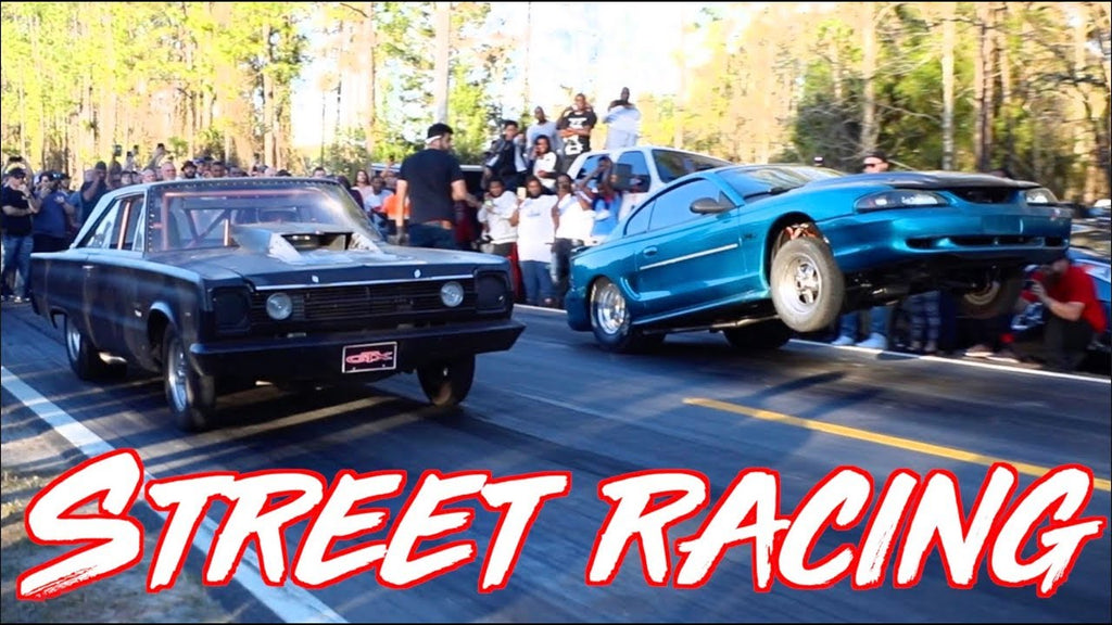 Mustang Wheel Flies Off While Street Racing - Street Mafia Vol 1