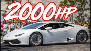 2000HP Drag Lambo and 1500HP Performante on the Street - BRUTAL Acceleration!